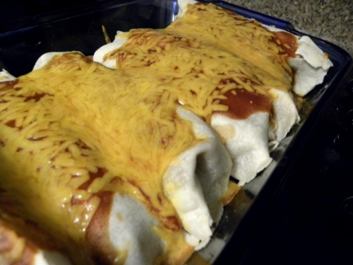 bean and beef burritos