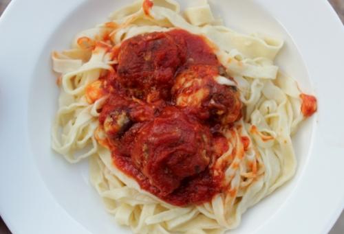 Pasta and Cheesy Meatballs